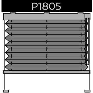 plisse 20mm - recht raam - ketting - 16. P1805