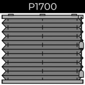 plisse 20mm - recht raam - koord - 1. P1700