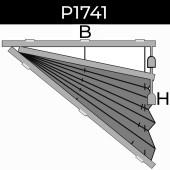 plisse 20mm - recht raam - koord - 8. P1741 rechts
