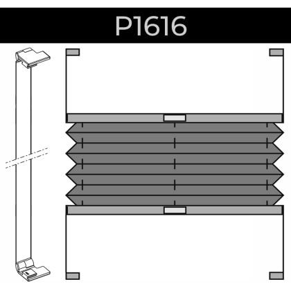 plisse 20mm - recht raam - plakstrip - 13. P1616 plakstrip