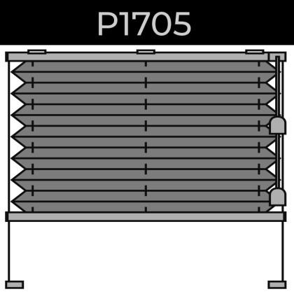 plisse 20mm - recht raam - koord - 2. P1705