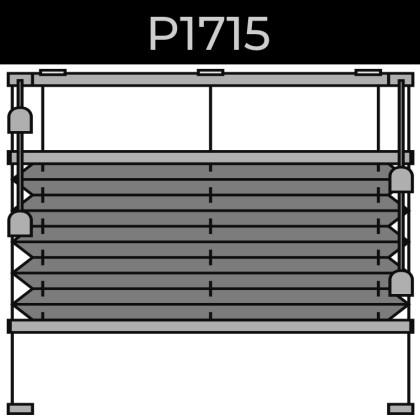 plisse 20mm - recht raam - koord - 4. P1715