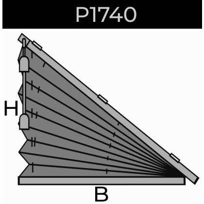 plisse 20mm - recht raam - koord - 7. P1740 rechts