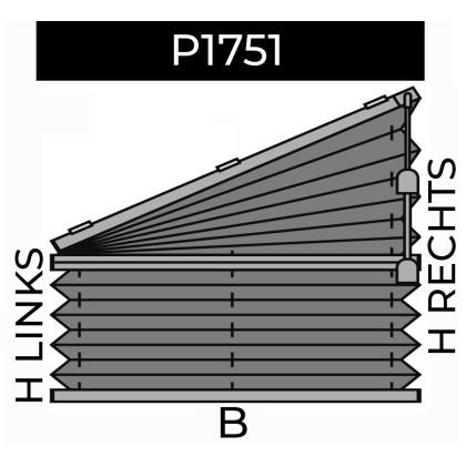 plisse 20mm - recht raam - koord - 9. P1751 rechts