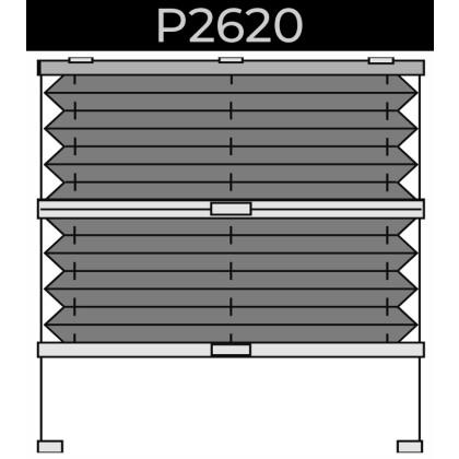 plisse 20mm - dakraam - handgreep - 24. P2620